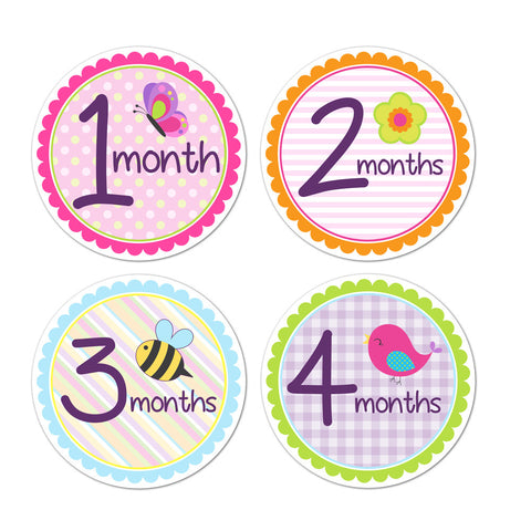 Spring Time Monthly Baby Stickers