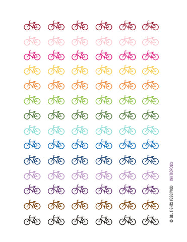 Monthly Planner Stickers Rainbow Bikes Stickers Planner Labels Compatible with Erin Condren Vertical Life Planner