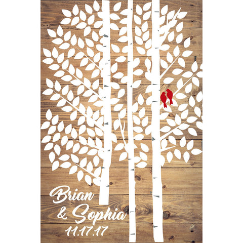 Wedding Guest Book Alternative - Birch Tree