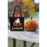 Personalized Halloween Trick Or Treat Bag, Kids Halloween Tote Bag - Boo Ghost