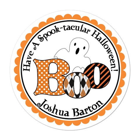 Boo Ghost Personalized Halloween Sticker