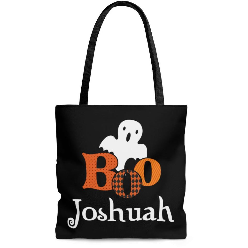personalized boo ghost halloween trick or treat bag