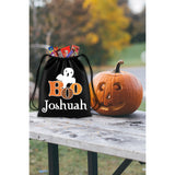 Personalized Halloween Trick Or Treat Bag, Kids Drawstring Bag - Boo Ghost