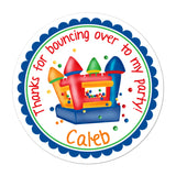 Bounce House Personalized Sticker Birthday Stickers - INKtropolis