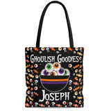 personalized bowl of eyeballs halloween trick or treat bag