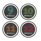 Colorful Chalkboard Style Monthly Baby Stickers onesie sticker - INKtropolis