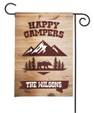 Personalized Camping Flag - Happy Campers - Forest Nature