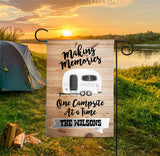 Personalized Camping Flag - Retro Camper