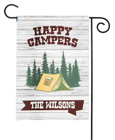 Personalized Camping Flag - Happy Campers - Camping Tent