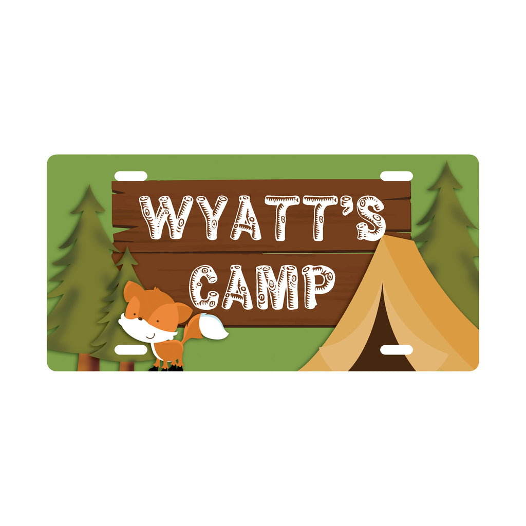 Personalized Camping Kids Door Sign