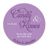 Candy and Kisses From The New Mr and Mrs Personalized Sticker Wedding Stickers - INKtropolis