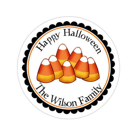 Candy Corn Personalized Halloween Sticker