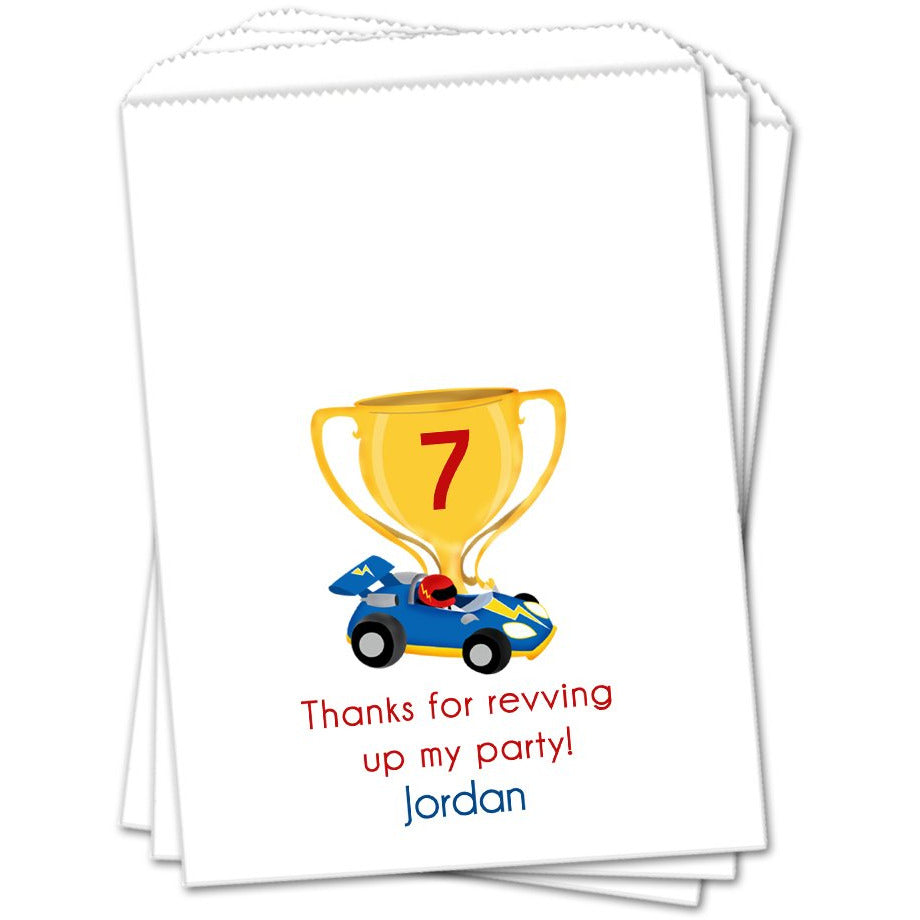 Race Car Birthday Favor Bags - Sets of 25 Birthday Favor Bags - INKtropolis