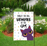 Personalized Garden Flag - Beware Of The Cat - Funny Flag