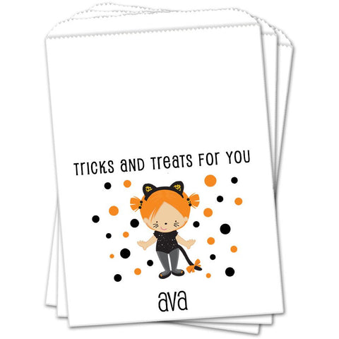 Cat Costume Halloween Favor Bags - Sets of 25