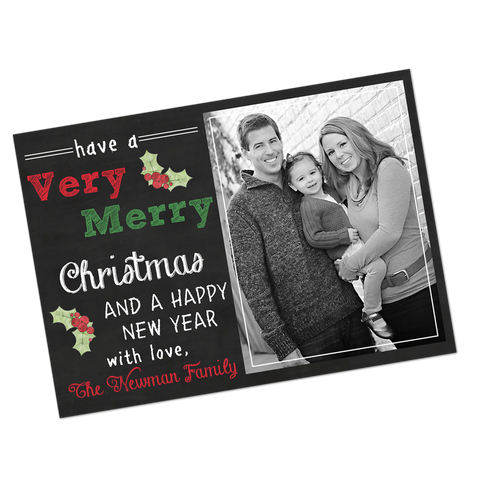 Chalkboard Style Digital Holiday Invitation