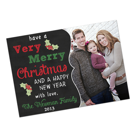 Chalkboard Style Fancy Frame Holiday Digital Invitation