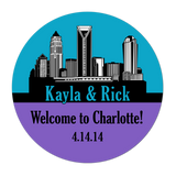 Charlotte Skyline Personalized Sticker Wedding Stickers - INKtropolis