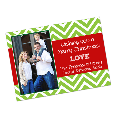 Chevron Stripe Digital Holiday Invitation