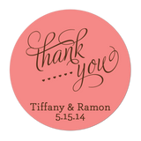 Classic Thank You Personalized Sticker Wedding Stickers - INKtropolis