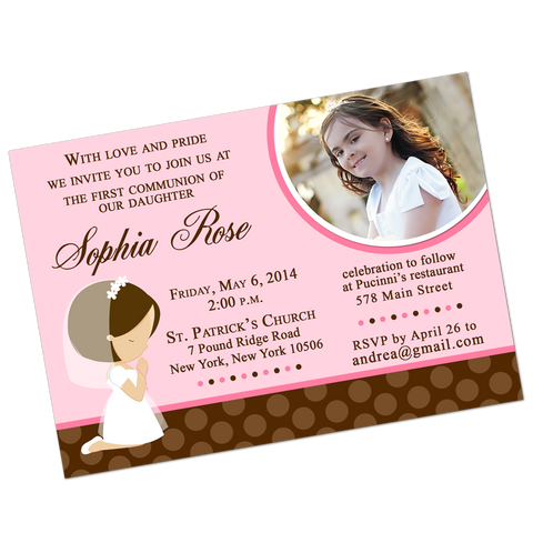 Girl Praying Digital Communion Invitation