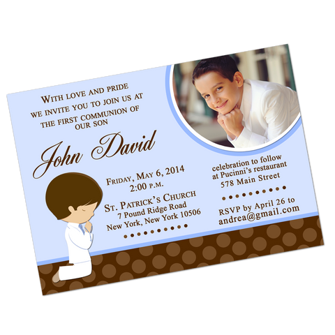Boy Praying Digital Communion Invitation