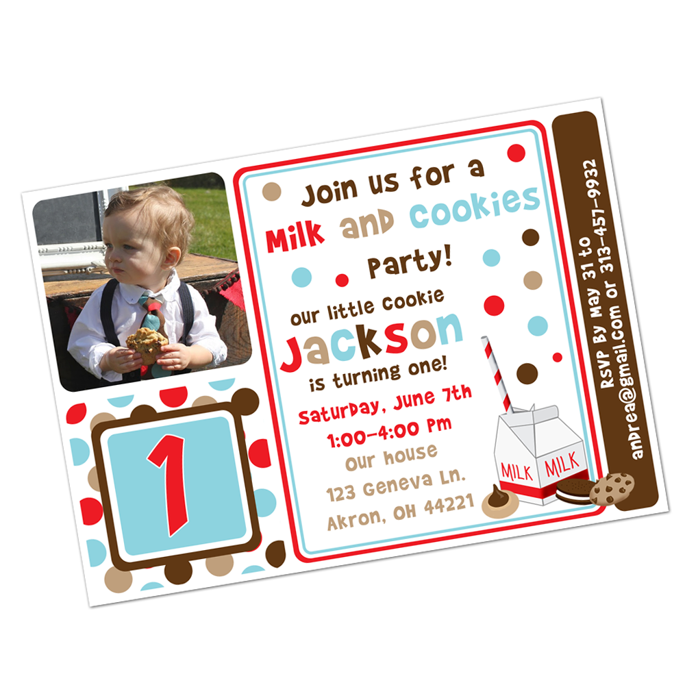 Milk and Cookies Digital Invitation Digital Invitations - INKtropolis