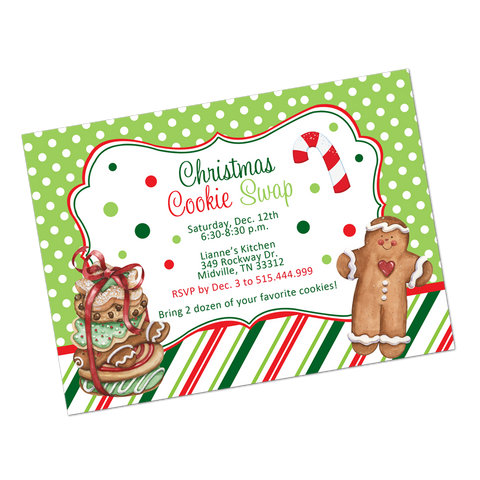 Cookie Swap Holiday Digital Invitation