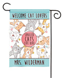personalized spoiled cats garden flag