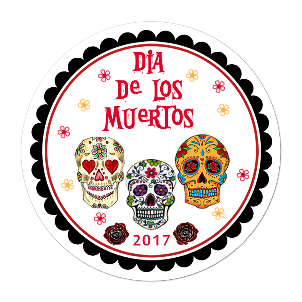 Dia De Los Muertos Personalized Sticker Halloween Stickers - INKtropolis