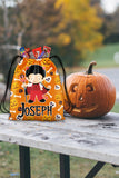 Personalized Halloween Trick Or Treat Bag, Kids Drawstring Bag - Boy Devil Costume