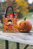 Personalized Halloween Trick Or Treat Bag, Kids Halloween Tote Bag - Boy Devil Costume
