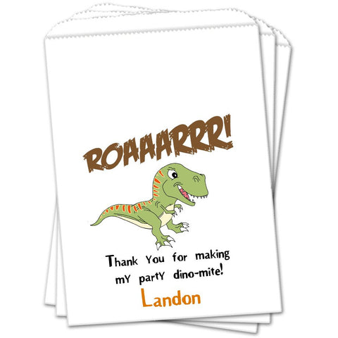 Dinosaur Personalized Birthday Favor Bags