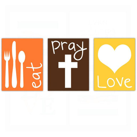 Eat Pray Love Kitchen Wall Art