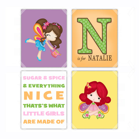 Fairy Nursery Wall Art - Set of 4