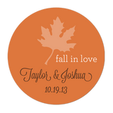 Fall Leaf Personalized Sticker Wedding Stickers - INKtropolis