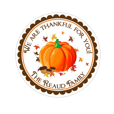 Fall Pumpkin Personalized Fall Sticker