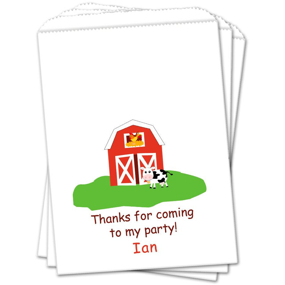Farm Birthday Favor Bags - Sets of 25 Birthday Favor Bags - INKtropolis