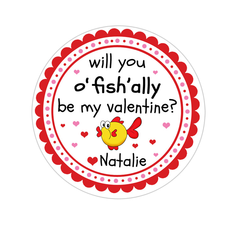 Ofishally Valentines Day Personalized Sticker Valentines Day Stickers - INKtropolis
