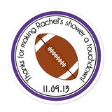 Football Personalized Sticker Baby Shower Stickers - INKtropolis