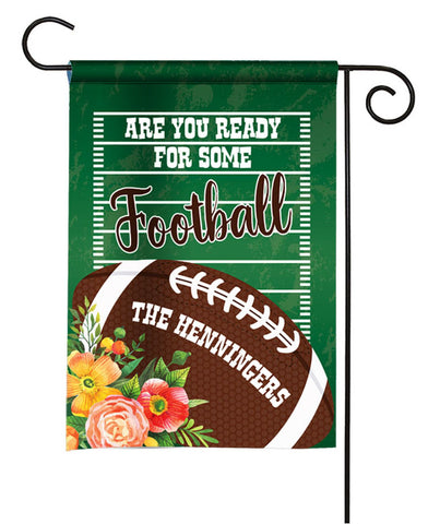 Personalized Garden Flag - Football Season