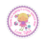 Blonde Hair Garden Fairy Personalized Sticker Birthday Stickers - INKtropolis