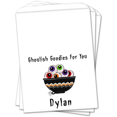Bowl Of Eyeballs Halloween Favor Bags - Sets of 25