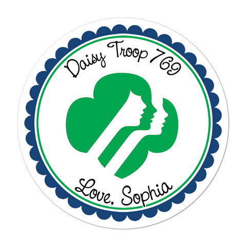 Girl Scout Personalized Sticker