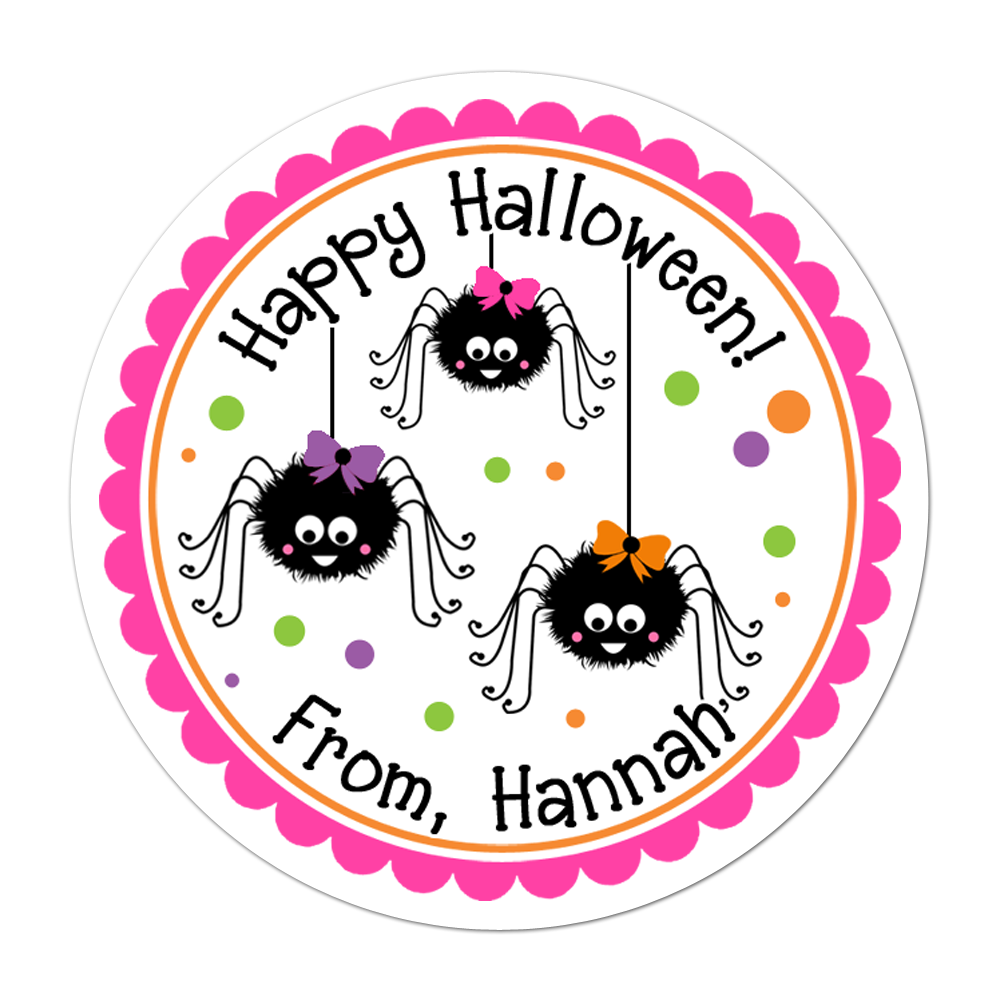 Girly spiders personalized sticker