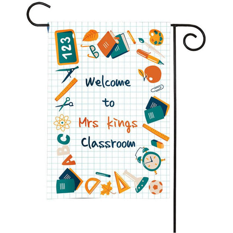 Personalized Classroom Flag - Teacher Flag - Classroom Decor - School Supplies