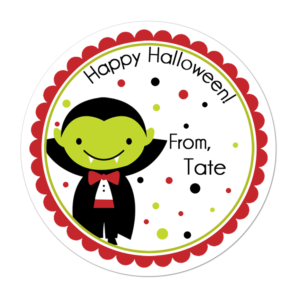 Vampire Personalized Sticker Halloween Stickers - INKtropolis