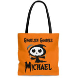 personalized grim reaper halloween trick or treat bag