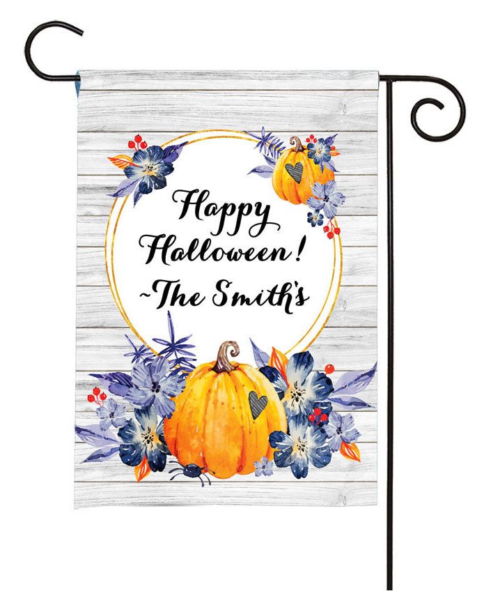 personalized halloween pumpkin yard flag