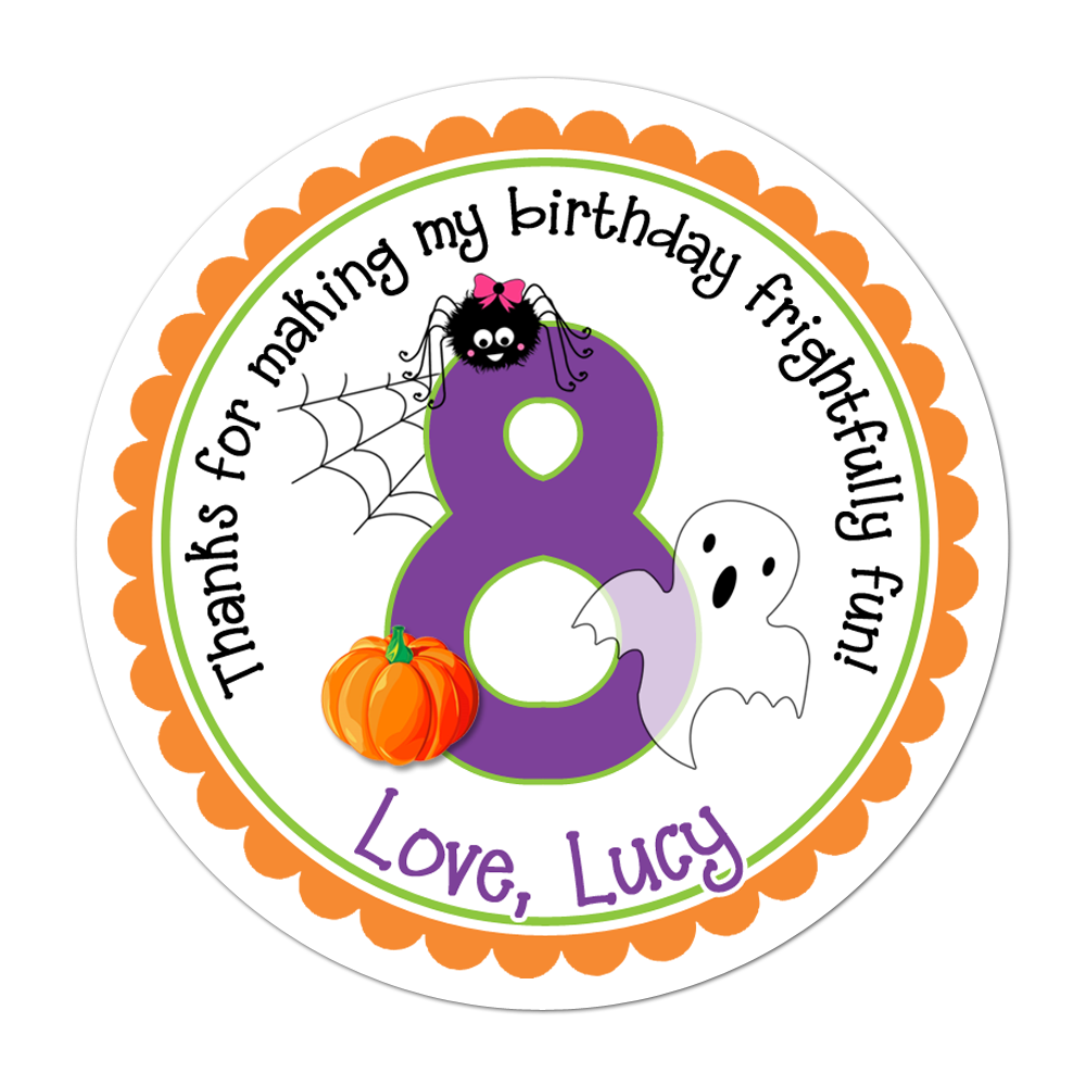 Halloween Birthday Personalized Sticker Halloween Stickers - INKtropolis